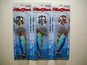 Lot Of 3 Mirrolure Mini Mirrodine Suspending Twithchbaits Blue Back Chartreuse