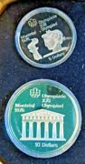 1976 Silver Canadian Montreal Olympic Games 28 Coins 30+ Oz Silver With Stand