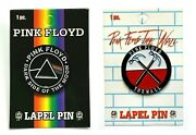 Pink Floyd The Wall Hammers + Dark Side Of The Moon Logo Lapel 2 Pin Set [metal]
