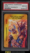 1995 Marvel Overpower Protect Teammate Thor Psa 10 Gem Mint