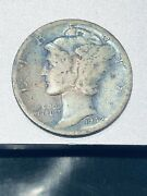 1942 / 1 -d Mercury Dime - 2 Over 1 - Double Die Obverse W/ Rpmm - Rare Coin