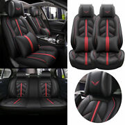13andtimesdeluxe Car Seat Cover 5-seat Front Rear Pu Leather Suv Truck Full Set Cushion