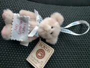 Mini Plush Boyds Hershey Kisses Happy Mother's Day Pink Bear Ornament 4 Maw