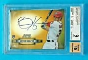 2012 Sterling Bryce Harper Rc Nickname Auto 1/15 Mint Bgs 9 10 Center Nationals