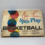 Vintage 1964 Jerry Lucas Spin N Play Basketball Game With Box Please Read