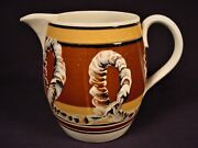 Rare Early 1800s Cable Pitcher Mocha Ware Mochaware Pearlware Staffordshire Mint