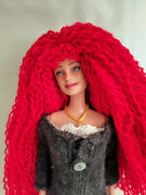 Ooak Nude Rerooted And Repainted Barbie Doll With Red Hair