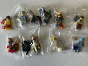 9 Various Lego Collectible Series Minifigures King Lifeguard Fencer Genie Witch