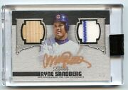 2019 Topps Dynasty Ryne Sandberg Dual Relic 4/5 Silver Hall Of Fame Chicago Cubs