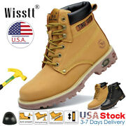 Men's Steel Toe Caps Safety Work Boots Outdoors Military Tactical Nonslip Shoes
