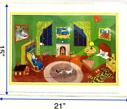 Vintage Goodnight Moon Poster Print By Clement Hurd Copyright 1947 Renewed 1965