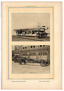 1903 Antique Pictures Hook Ladder Fire Truck Water Tower Dodd Mead And Co.10x71a
