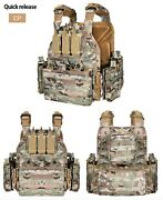 Tactical Quick Disconnect Bug-out Plate Carrier Vest With Molle Pouches