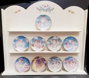 Dreamsicles Collectible 3.5 Limited Edition Plates Set Of 9 W/ Display
