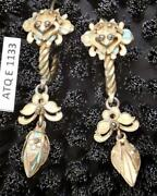 Antique Qing Dynasty Tian-tsui Frog And Flower Hoop Earrings Museum Of Jewelry