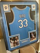 Larry Bird Authentic Autograph Framed Jersey Coa Psa Indiana St Sycamores
