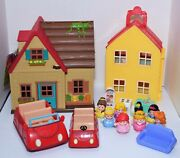 Fisher Price Little People House And 2 Car Set Toy Play Disney Princess