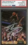 Shaquille Oand039neal Signed 1992-93 Topps Stadium 201 Rc Rookie Psa/dna 10 Auto Hof