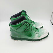 Nike Mens Green White Lace Up Round Top Comfort High Top Athletic Shoes Size 10