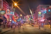 Beale Street Memphis Tennessee City Photography Metal Print Wall Art Picture Hom