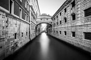 Bridge Of Sighs Venice Italy Canal Canvas Photography Metal Print Wall Art Pictu