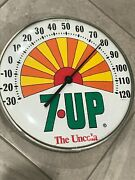 Vintage 1971 Sunshine 7up The Uncola Glass Dome Thermometer Made In U.s.a. Works