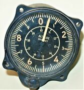 U.s. Gauge Co. Circa 1950and039s Altimeter In Working Condition. Piper Cub Aircraft.
