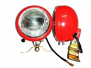 Massey Ferguson Tractor Red Plough Lampsl-r Pair With 12v Bulbs For Mf 35506