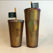 Starbucks Gold Copper Studded Tumbler 50th Anniversary Limited Edition 24 And 16oz