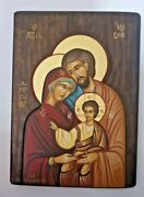 Holy Family Icon Real Hand Painting In Monastery In Greece Size 3025cmjerusalem