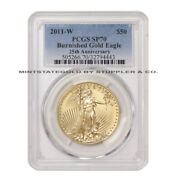 2011-w 50 Eagle Pcgs Sp70/ms70 American Gold Burnished West Point 1oz 22kt