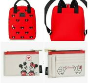 Disney Loungefly Mickey Mouse Ears Hat Mini Backpack, Cardholder Coin Purse New