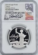 2019-w Platinum 100 Eagle Pr70 Ultra Cameo Ngc First Day Issue Charles Vickers