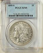 1895 S Morgan Silver Dollar Xf 45 Pcgs Beautiful Coin