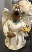 Warner Brothers Exclusive Scooby Doo Angel Pizza Christmas Tree Topper Euc W/box