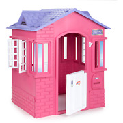 Little Tikes Princess Cottage Playhouse Pink Outdoor Indoor Castle Play House