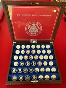 Danbury Mint Us Presidential Silver Proof Commemorative Set 44 One Troy Ounce