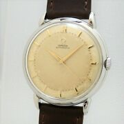 Omega Ref.2446-1 Vintage Overhaul Bumper Automatic Mens Watch Authentic Working