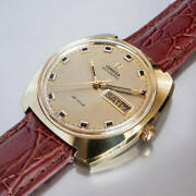 Omega De Ville Ref.166.053 Vintage Day Date Rare Automatic Mens Watch Auth Works