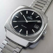 Omega Geneve Ref.1660164 Vintage Date Rare Stainless Steel Automatic Mens Watch