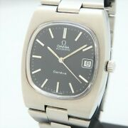 Omega Geneve Ref.166.0191 Vintage Cal.1012 Black Automatic Mens Watch Auth Works