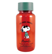 Peanuts Joe Cool Snoopy Cute Drink Bottle S W/ Tube For Ice Red 580ml Japan New