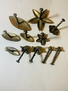 11 Pieces Vintage Solid Brass French Chocolate Flower Molds