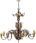 Vintage Currey And Co. Italian Tole Chandelier