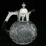 Silver Topped Cut Crystal Decanter