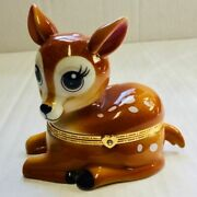 Granddaughter You Are My Sunshine Fawn Deer Porcelain Music Box
