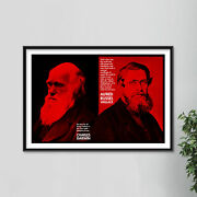 Charles Darwin And Alfred Russel Wallace Art Print Photo Poster Gift