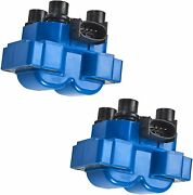 2 Fd487 Blue Ignition Coil For 1989-2003 Ford Escort Zx2 Coupe 2-door 2.0l L4
