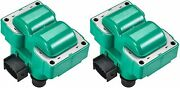 2 Fd487 Green Ignition Coil For 1989-2003 Ford Escort Zx2 Coupe 2-door 2.0l L4