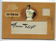 Willie Mays 2005 Donruss Leather And Lumber Cuts Game Used Relic Auto /15